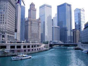 Downtown Chicago and River
