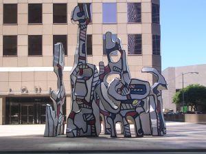 Downtown Houston Art Sculpture