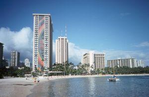 Rainbow Tower Waikiki Beach Honolulu Hawaii
